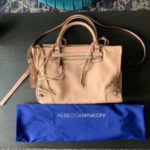 Rebecca Minkoff Pink Pebbled Leather Regan Satchel